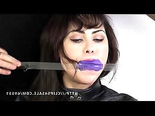 Audrey Noir Panties and Tape Gag
