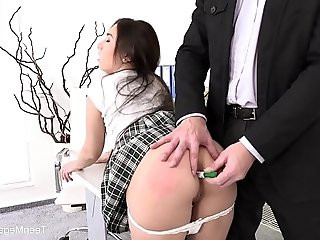 Little Candy Lazy student gets hard anal orgasm as punishment