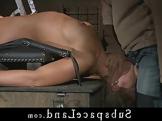 Painful pussy and tits whipping