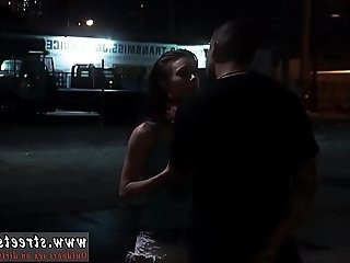 Rides her slave first time Rough outdoor public orgy is Anya Olsens
