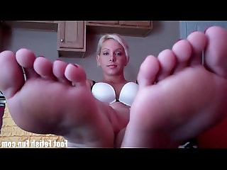 Summers sexy blonde beach foot fetish