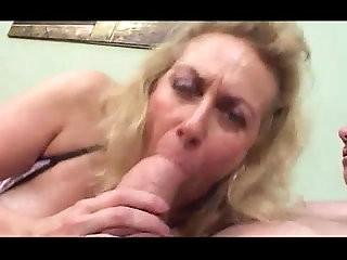 Granny Blowjob and Smoking