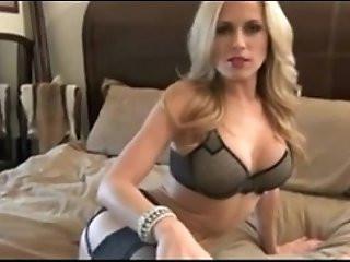 Hot blonde amateur MILF give jerk off instructions
