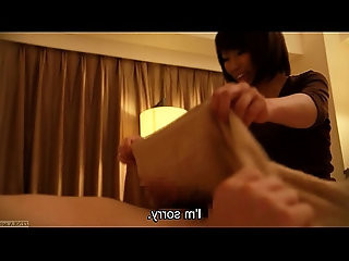 Subtitled Japanese hotel massage and wet handjob leads to sex in HD