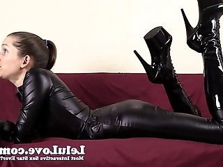 Financially dominating and cuckolding you in my catsuit