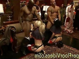 The upper floor orgy bdsm party
