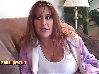 Massive tits older lesbian pussy playing around with her young bitch