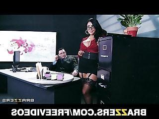 Big tit lingerie clad assistant Kiara Mia fucks her boss at work