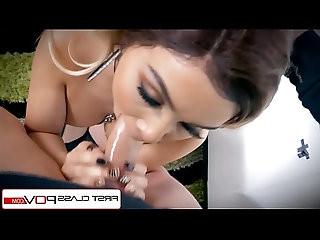 FirstClassPOV Aaliyah Hadid take a monster cock in her throat, big boobs