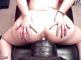 Meet my fabulous tits!Watch me pounding by fucking machine getting squirt!