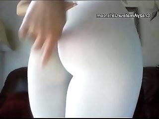 Leggins tucked in webcam