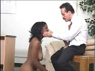 Black girl is controlled by her superiors