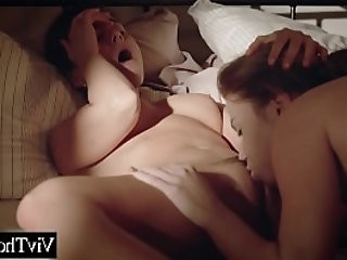 Lesbian catches girlfriend cheating in tub but fucks her hard anyways