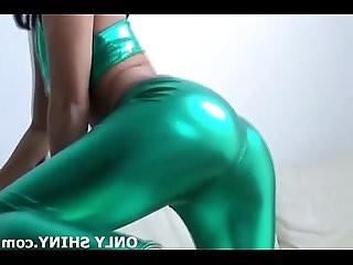 My green PVC panties will get your dick hard