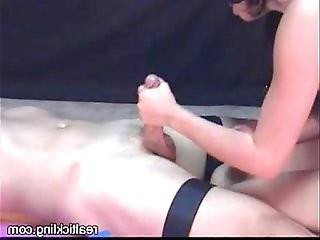Tied up Helpless Handjob
